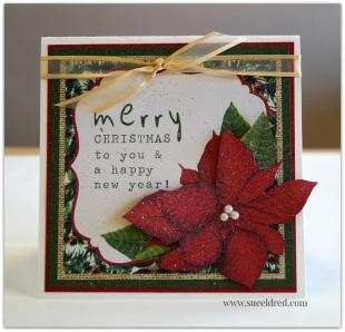 Merry Christmas Poinsettia 9731