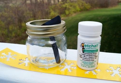 Snowflake Candy Jar Supplies 1274