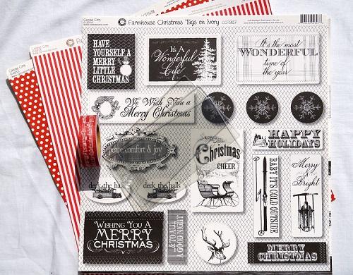Christmas Mini Album Supplies 7388