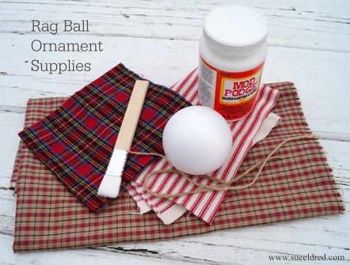 Rag Ball Ornament Supplies