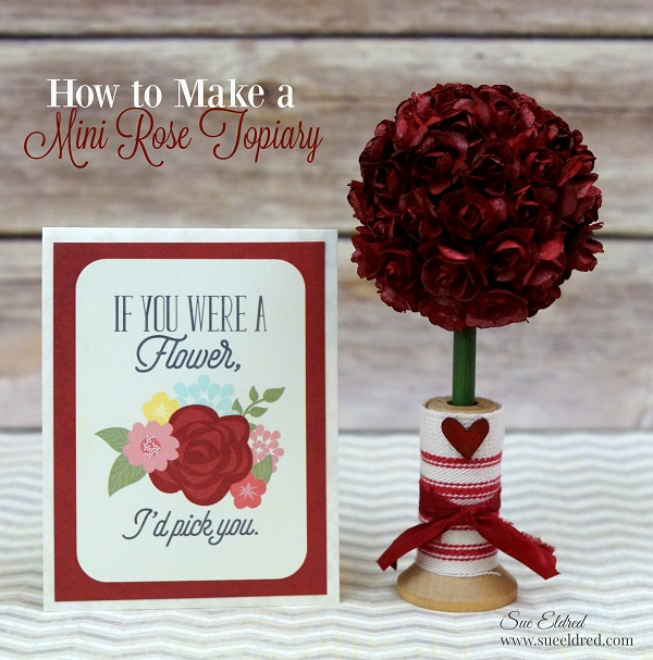 How to Make a Mini Rose Topiary 04034