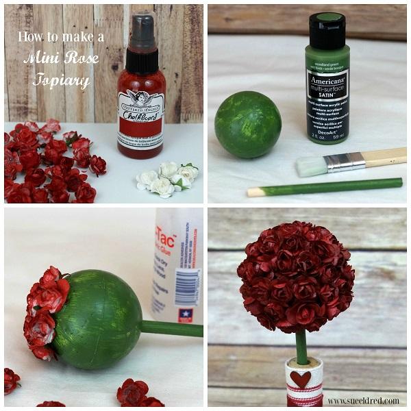 How to make a Mini Rose Topiary