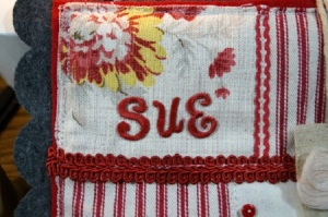 Stitched Sampler Close Up