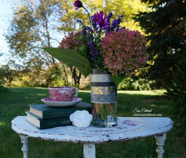 Washi Tape Vase and Flowers 2