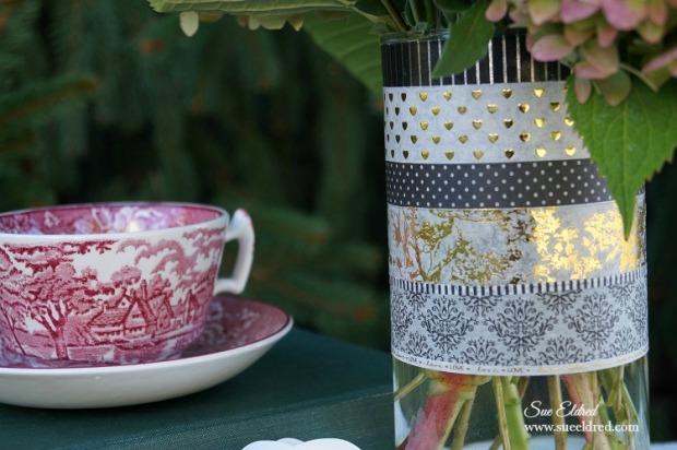 Washi Tape Vase Close Up