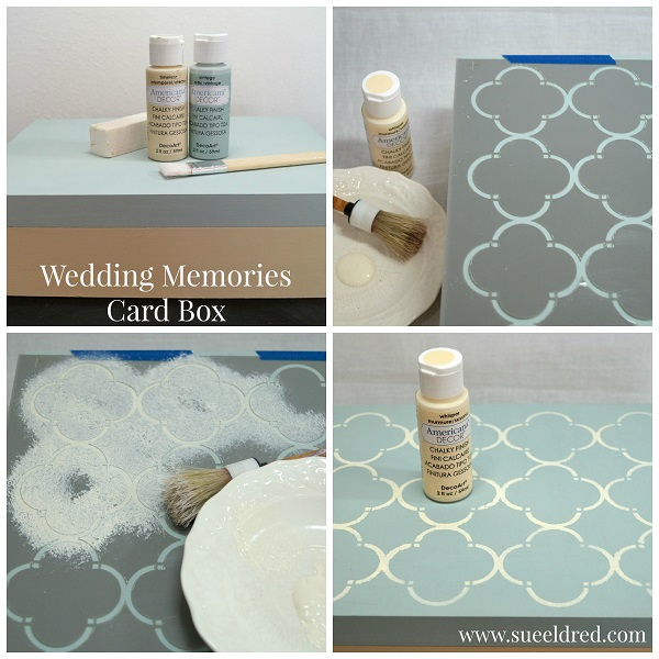 Wedding Memories Card Box Collage