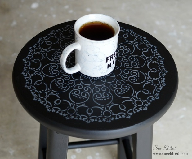 Finished Stool with coffee cup 5592