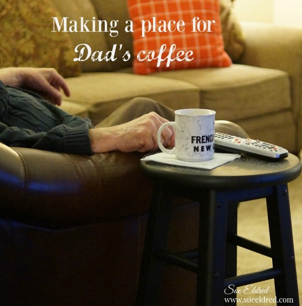 Making a place for Dad's Coffee 5605
