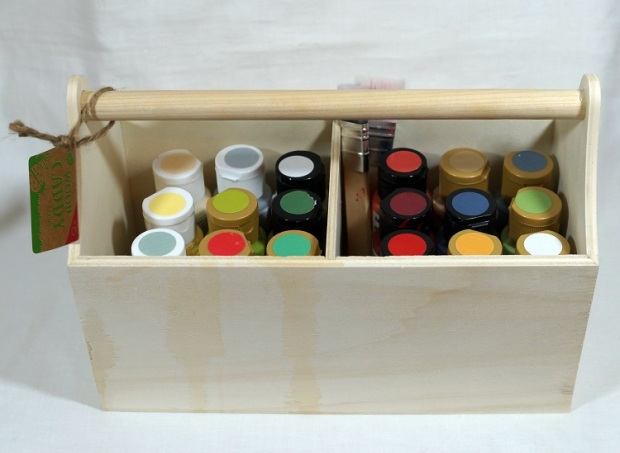 Wood Caddy with Paint 5462