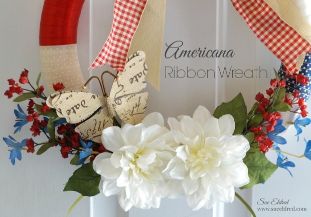 Americana Ribbon Wreath 7505