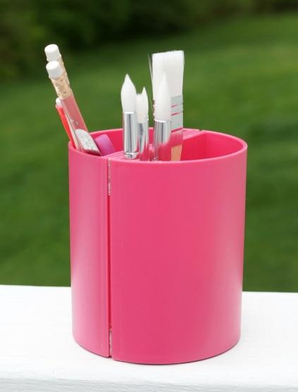 plain pink pencil cup 7023