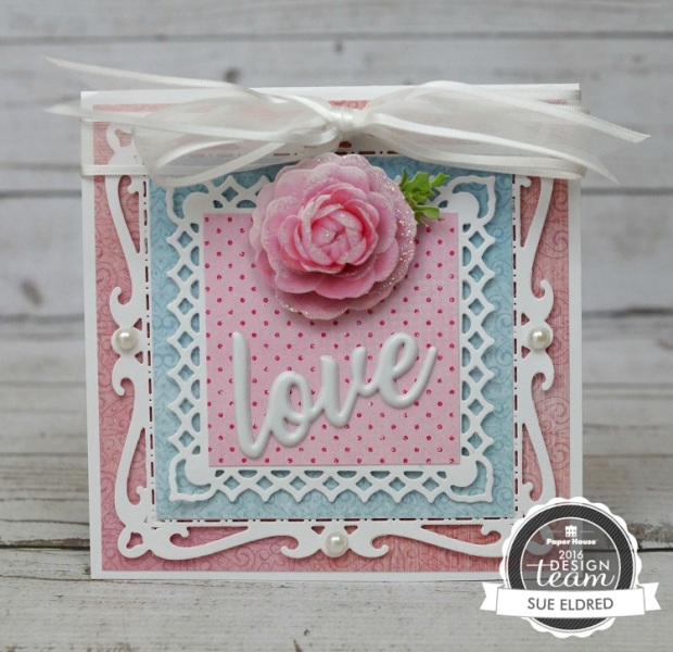 Pretty Pink Rose Card 7594
