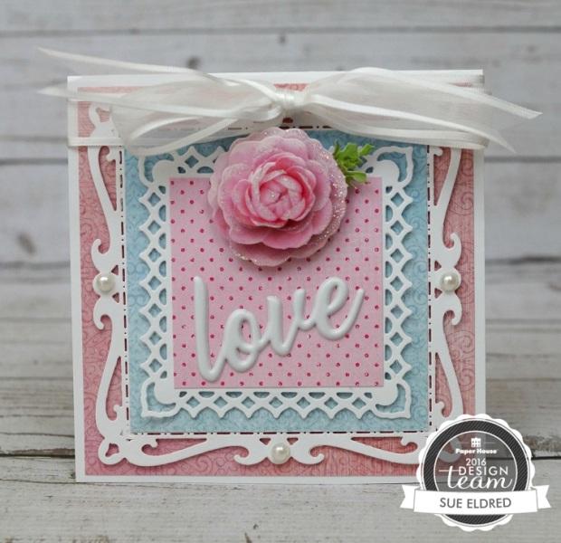 Pretty Pink Rose Card 7594