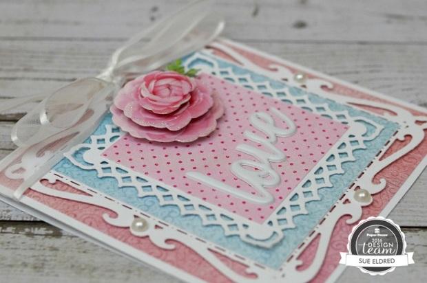 Pretty Pink Rose Card Close Up 7591