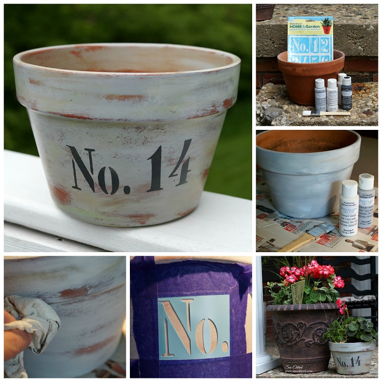 No 14 How To Age A Terra Cotta Pot With Chalky Finish