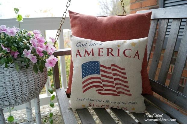 God Bless America Pillow 0611 2