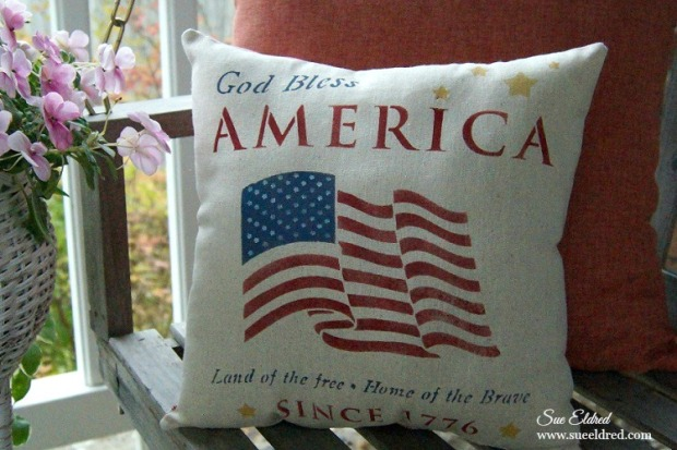 God Bless America Pillow 572 2