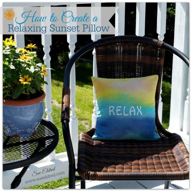 How to create a Relaxing Sunset Pillow 9318