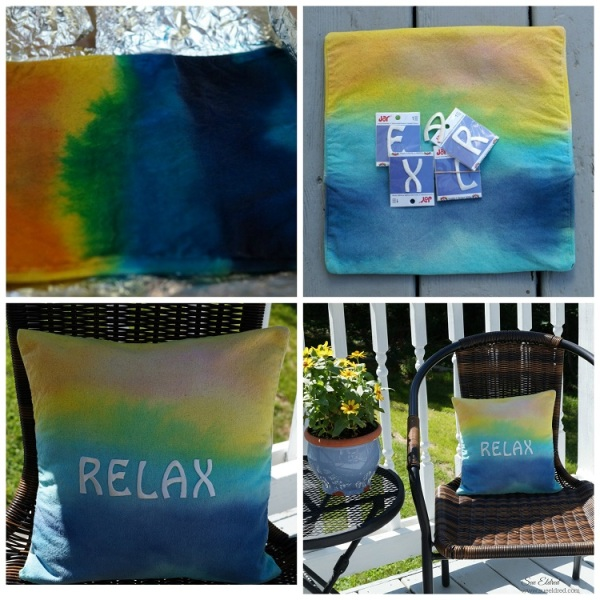 How to make a Relaxing Sunset Pillow Collage