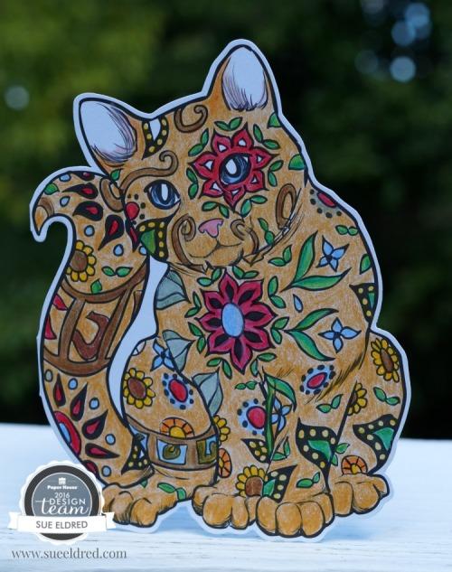 Cat Coloring Card 9935