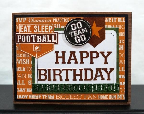 Football Birthday Card 6376