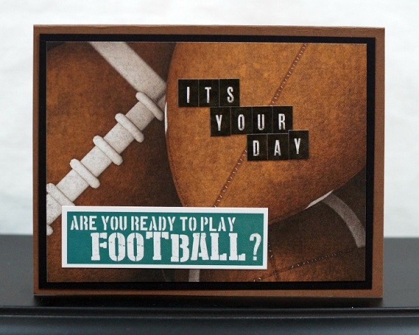 Football Birthday Card Inside 6378
