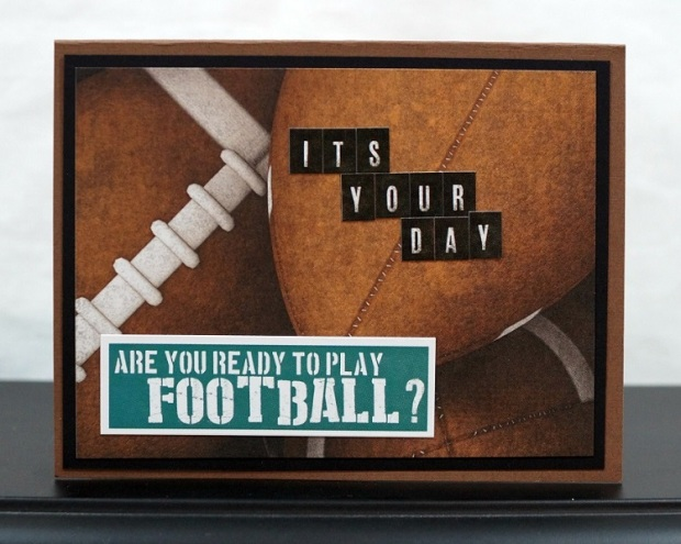 Football Birthday Card Inside 6378