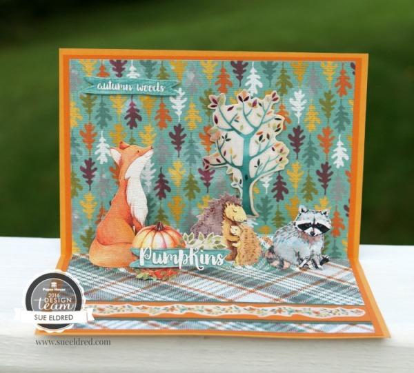 Autumn Woods Pop Up Card 083