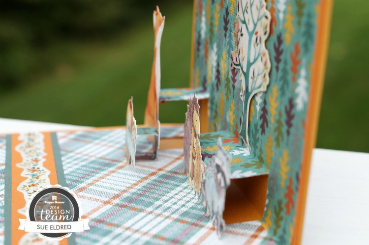 Autumn Woods Pop Up Card 084