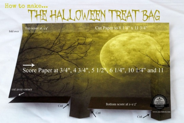 How to make the Halloween Treat Bag