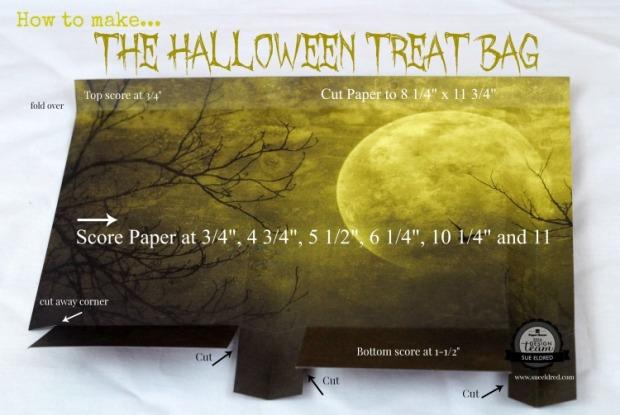How to make the Halloween Treat Bag