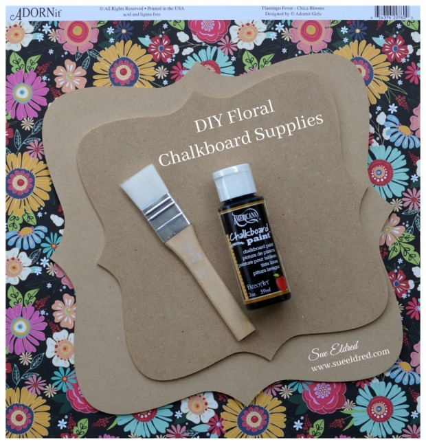 f23d10db7 The Floral Chalkboard makes a fun decorative Home Décor piece and is really  easy to make.