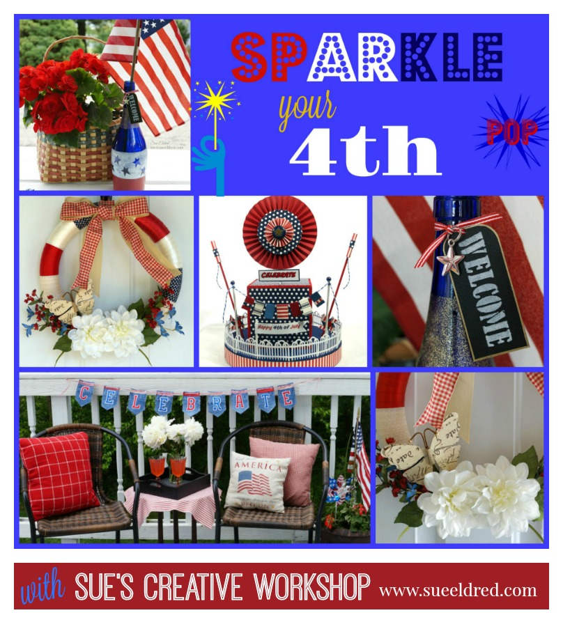 Red White And Blue Table Decorations Sue S Creative Workshop