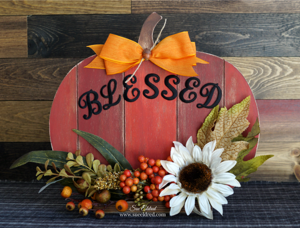 Faux Barn Wood Pumpkin
