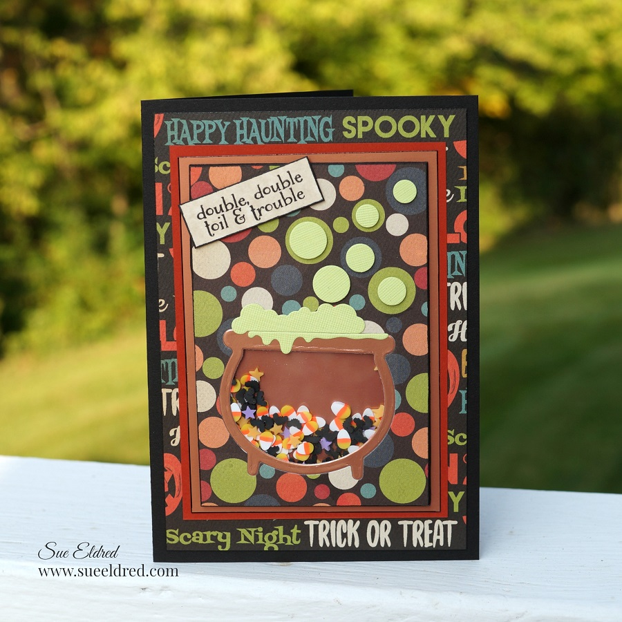 Toil and Trouble Halloween Shaker Card