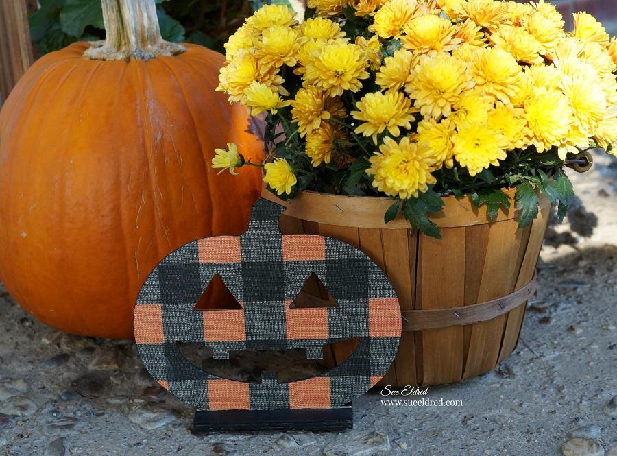 DIY Dollar Store Plaid Pumpkin
