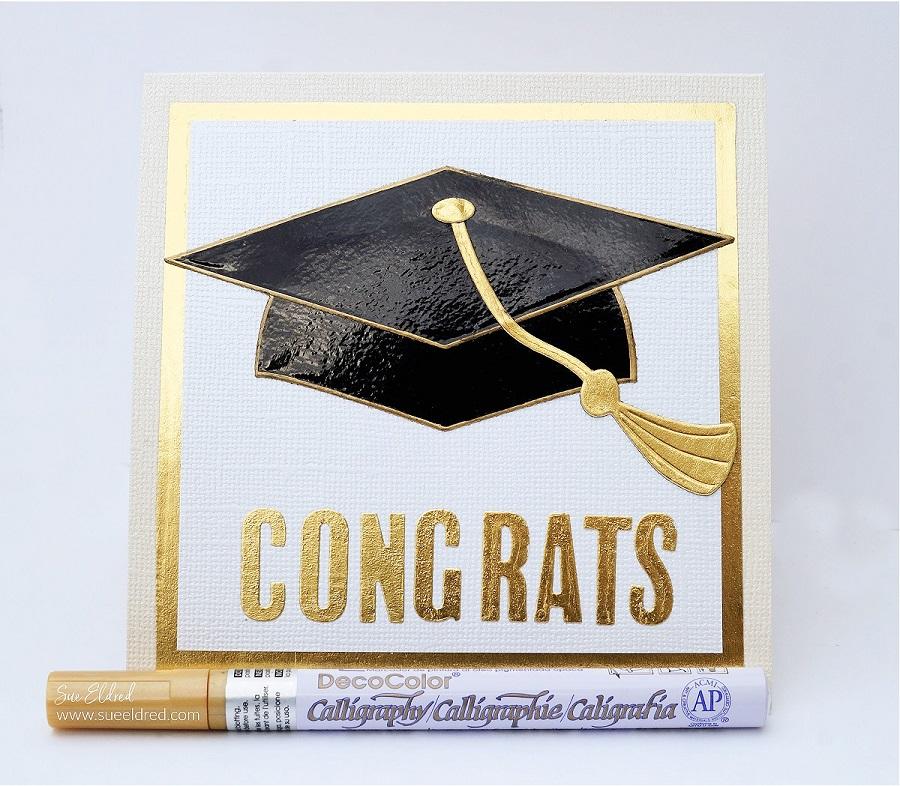 Graduation Hat Card-Sue's Creative Workshop www.sueeldred.com 7720