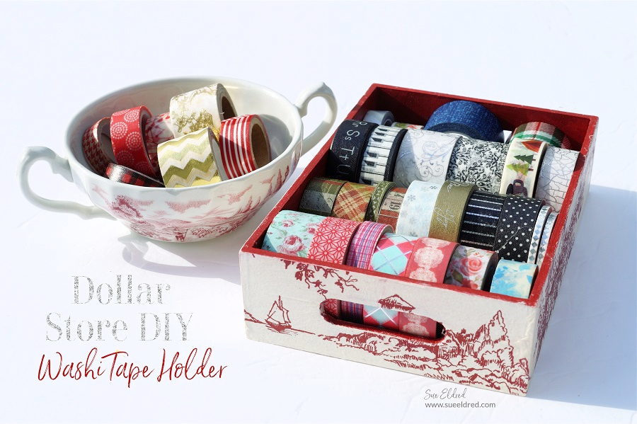 Dollar Store DIY-How to make a Washi Tape Holder
