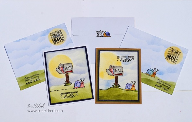 Simple Masking and Background Techniques for Stamping Cards and Envelopes