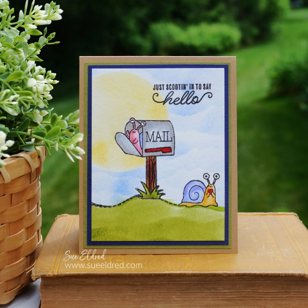 Snail Mail Stamped Card
