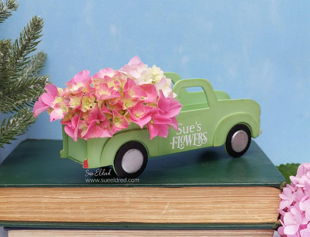 Vintage Flower Truck-Sue's Creative Workshop www.sueeldred.com 491