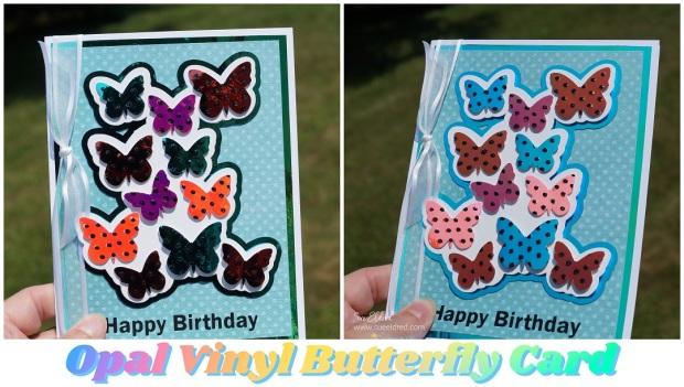 Opal Vinyl Butterfly Card