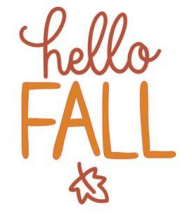 Hello Fall SVG Image