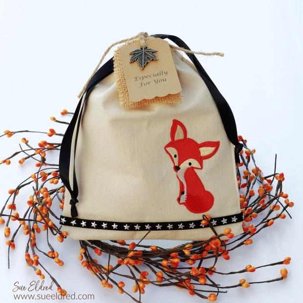 Reusable Fox Canvas Gift Bag