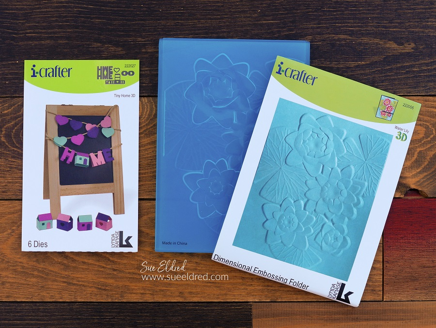 i-crafter tiny home die and water lily embossing plate