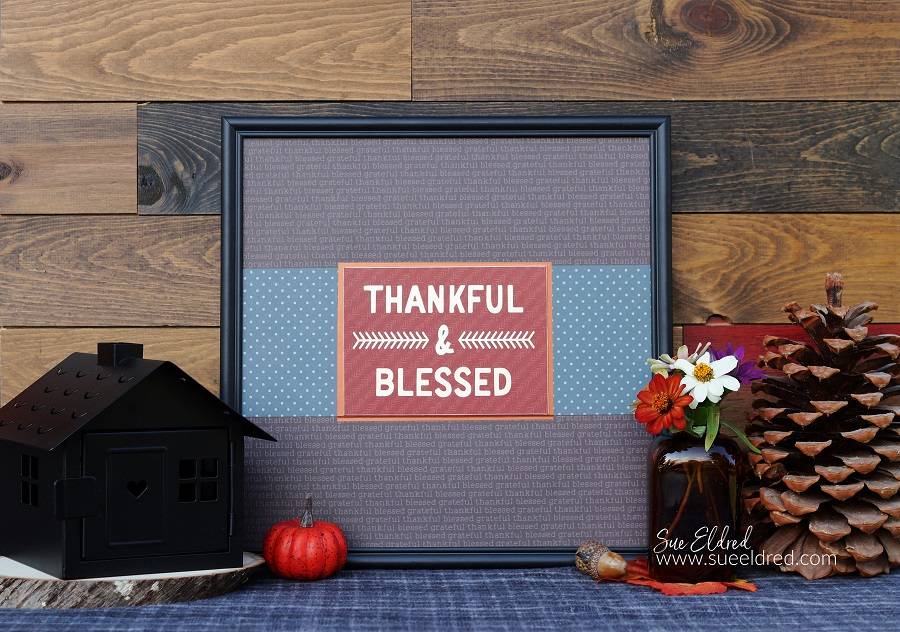 Thankful and Blessed Framed Decoration