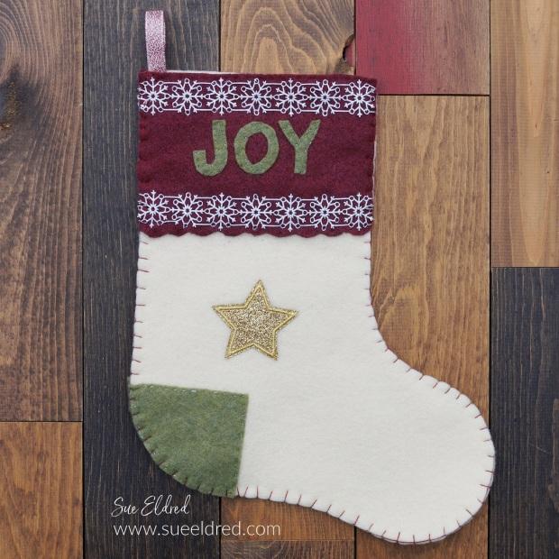 DIY Felt Christmas Stocking with Die Cut Ribbon