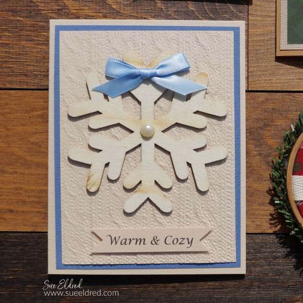 Warm & Cozy Embossed Sweater Card