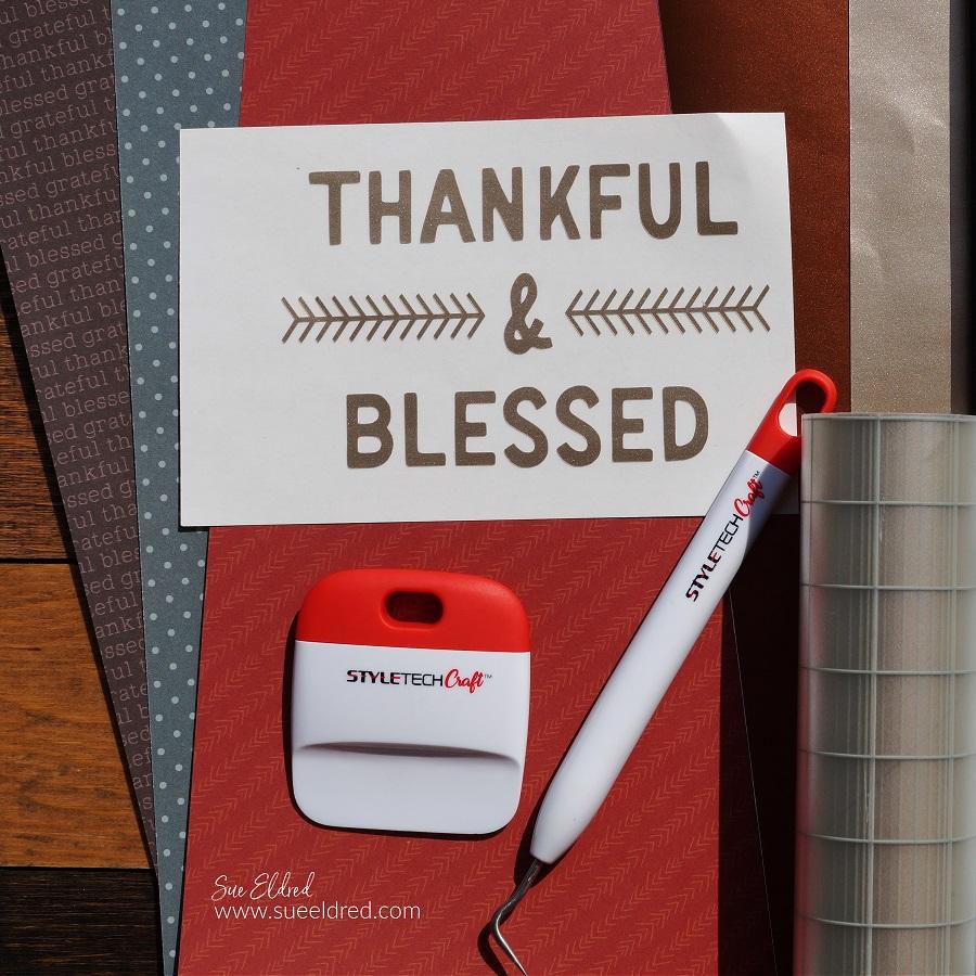 Thankful & Blessed DIY Framed Inspiration
