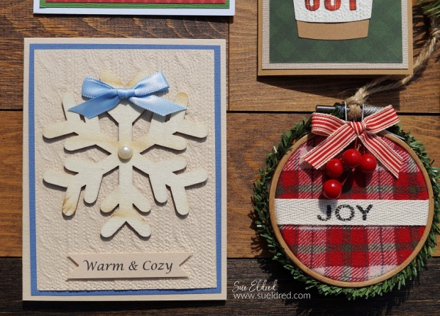 Warm & Cozy Card and Embroidery Hoop Ornament